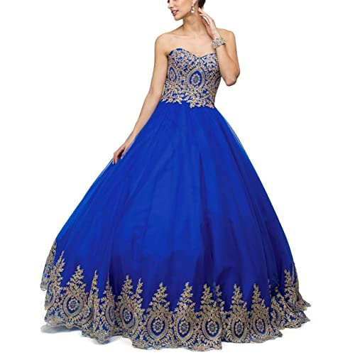 a7d0005259d LMBRIDAL Women s Appliqued Quinceanera Dress Sweetheart Prom Ball Gown Long  Long EVD21