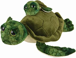 """Mom and Baby Stuffed Animal Turtle, 13"""" and 5"""", Safari Baby Shower Decorations, Nursery Decor, Zoo Animals for Toddlers, Q..."""