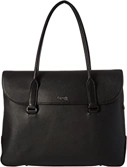 Plume Elegance Leather Laptop Tote Bag