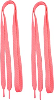 2 Pairs Double Layer Hollow Shoestrings Thick Flat Shoelaces for Unisex