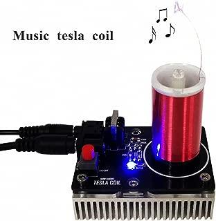 Sunnytech 20W Mini Music Tesla Coil Plasma Speaker Tesla Loudspeaker Wireless Transmission Model WH14