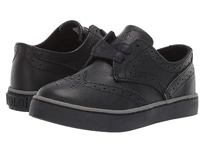 Polo Ralph Lauren Kids Alek Oxford (Toddler) (Triple Black Burnished Tumbled) Boys Shoes