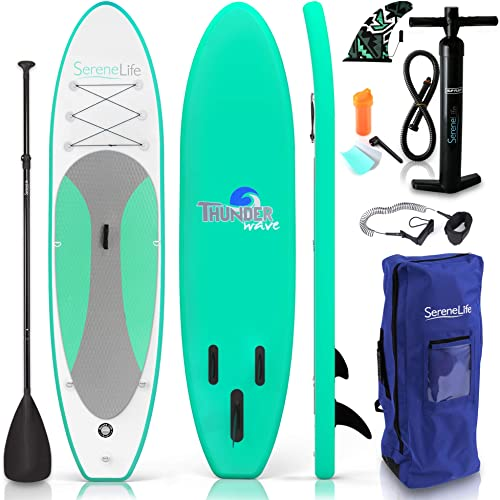 Wide Youth/Kids Inflatable Stand Up Paddle Board [SereneLife] Picture