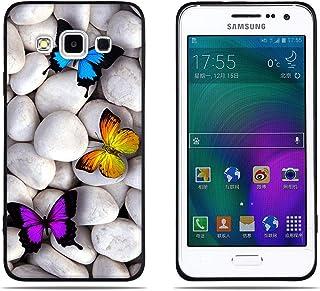 DIKAS Funda para Samsung Galaxy A3 A300, Borde Negro Transparente Suave TPU Gel [Ultra Fina] [Protección a Bordes y Cámara] Enjaca para Samsung Galaxy A3 A300 (4.5