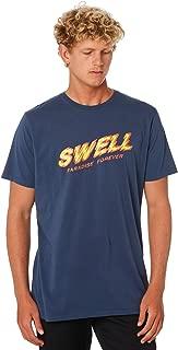 Swell Men's Shattered Mens Tee Crew Neck Short Sleeve Cotton Blue