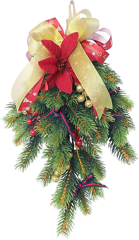 SAHLA Free shipping New 17.7 Cheap sale Inch Artificial Vine Rattan Christmas Garland Wreath