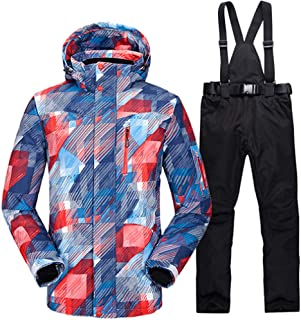Ski Suit Men Winter Windproof Waterproof Thermal Male Snow Pants Sets Skiing and Snowboarding Ski Jacket