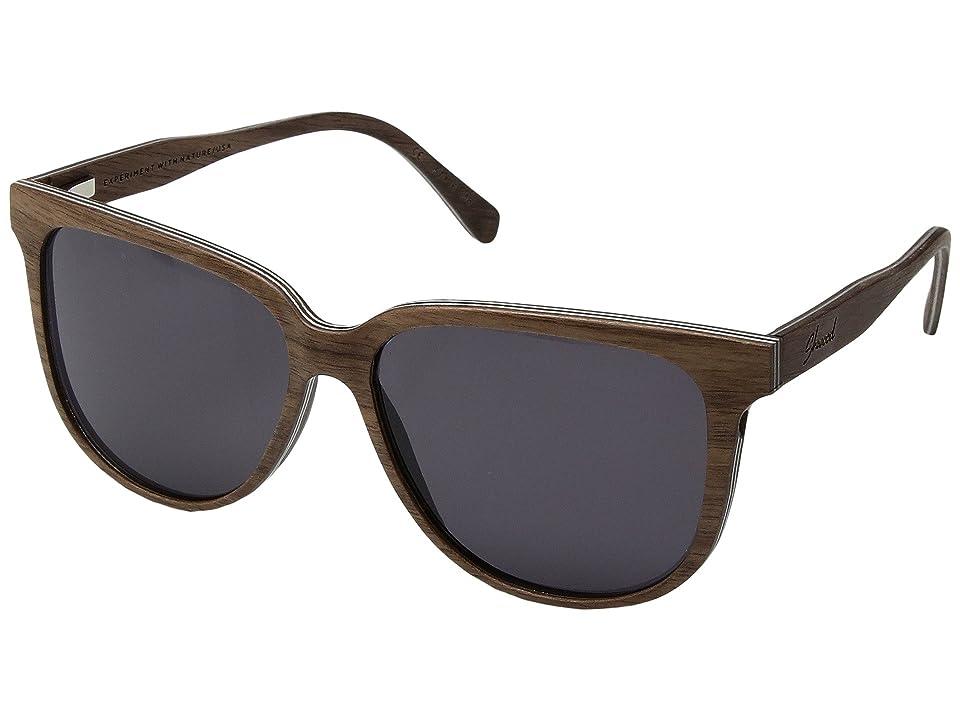 Shwood Mckenzie Wood Sunglasses (Walnut/Grey) Sport Sunglasses
