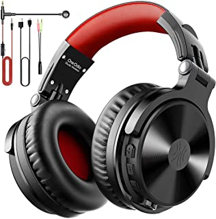 OneOdio Bluetooth Kopfhörer Over Ear [Bis zu 110 Stdn & BT 5.2] Bass Kopfhörer Kabellos mit Mikrofon für Freisprechen, HiFi Faltbares PC Headset mit Kabel, 50mm Treiber, Boom Mic für Handy/Laptop