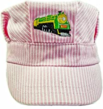 The Real McCoy Girls Green Steam Engine Embroidered Train Engineer Hat with  I Love Trains
