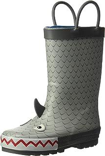 carter's Boys' Marco Rubber Rainboot Rain Boot, Grey, 11 M US Toddler