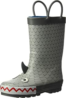 Boys' Marco Rubber Rainboot Rain Boot, Grey, 11 M US Toddler