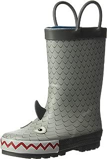 Boys' Marco Rubber Rainboot Rain Boot, Grey, 12 M US Toddler