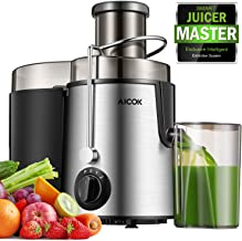 """Juicer Centrifugal Juicer Machine Wide 3"""" Feed Chute Juice Extractor Easy to Clean, Fruit Juicer with Pulse Function and Multi Speed control, Anti-drip , Stainless Steel BPA-Free (Renewed)"""