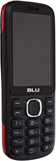 BLU Jenny TV 2.8 T276T Unlocked GSM Dual-SIM Cell Phone w/ 1.3MP Camera - Unlocked Cell Phones - Retail Packaging - Black Red