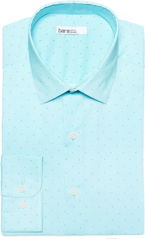 Bar III Men's Slim-Fit Printed Cotton Dress Shirt