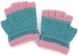 Flammi Kids Toddler Warm Half Fingerless Gloves Stretch Knitted