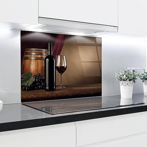 Crédence en verre trempé résistant à la chaleur renforcé décoratifs–90x 65cm–4mm d'épaisseur–Parfait Derrièr...