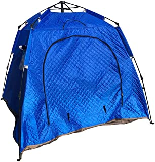 Campingtält utomhus dubbelskikts-EIS-fiske vinter tält-fiske-tält ökning tjockt bomullstält triangel kanvas tipi (färg: bl...