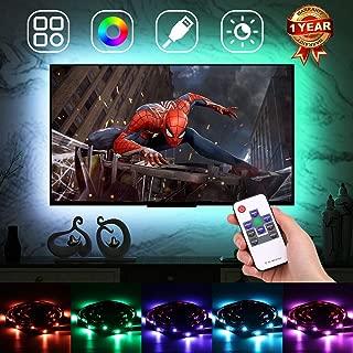 LED Strip Lights for TV Backlight, USB LED TV Bias Lighting Kit, RGB Color Changing LED Strip with Remote, Mood Light, Dimmable, 18 Colors, 20 Modes