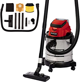 Einhell 2347130 TC-VC 18/20 Li S-Solo Power X-Change Cordless Wet And Dry Vac - Supplied without Battery and Charger, 53.2...
