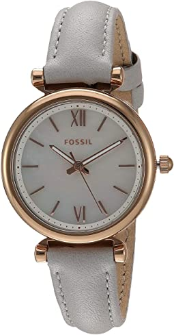 ES4529 Rose Gold Mineral Gray Leather