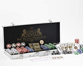 Premium 500 Piece Poker Chip Set with Aluminum Carrying Case. Upgraded Dealer, Dead Money Buttons. Original Dead Money Water Proof Playing Cards. Composite, Texas Hold'em with Dice. Casino Poker Chips