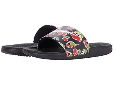 Nike Kids Kawa Slide SE Picnic (Little Kid/Big Kid) (Black/White/Track Red/Pear) Girls Shoes