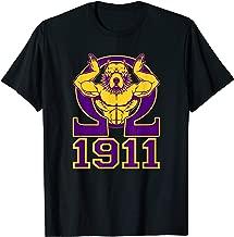 Mens Omega 1911 Hand Sign Purple Gold Bull Dog T-Shirt