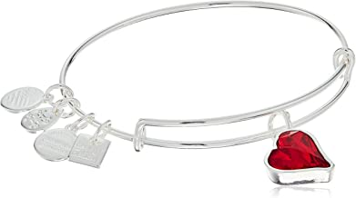 Alex and Ani Women's Charity by Design Heart of Strength Bangle - (Product) RED