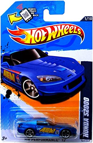 Mattel Honda S2000'12Hot Wtalons 141 247(Bleu) véhicule
