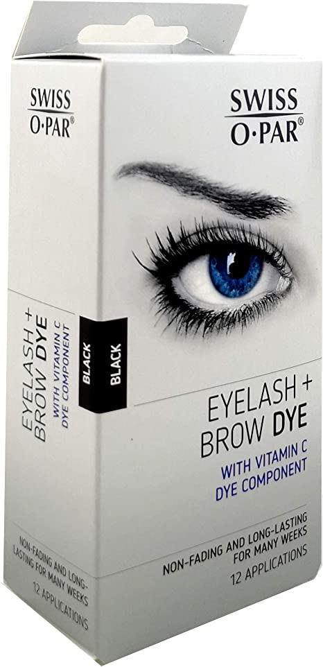 Swiss O Par Kit de pestañas y cejas (negro): Amazon.es: Belleza