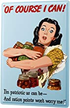 DYTrade Tin Metal Sign of Course I CAN! Housewife with Jars in The Poor Comic Cartoon 30x40 cm Metal Shield Shield Wall Art Deco Decoration Retro Advertising