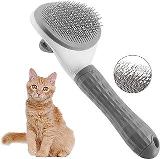 برس تمیز کردن گربه ها ، برس های صاف کننده حیوانات خانگی برس تمیز کردن سگ ها برای ریختن یک دکمه موهای شل و زیرپوش شل را براق می کند