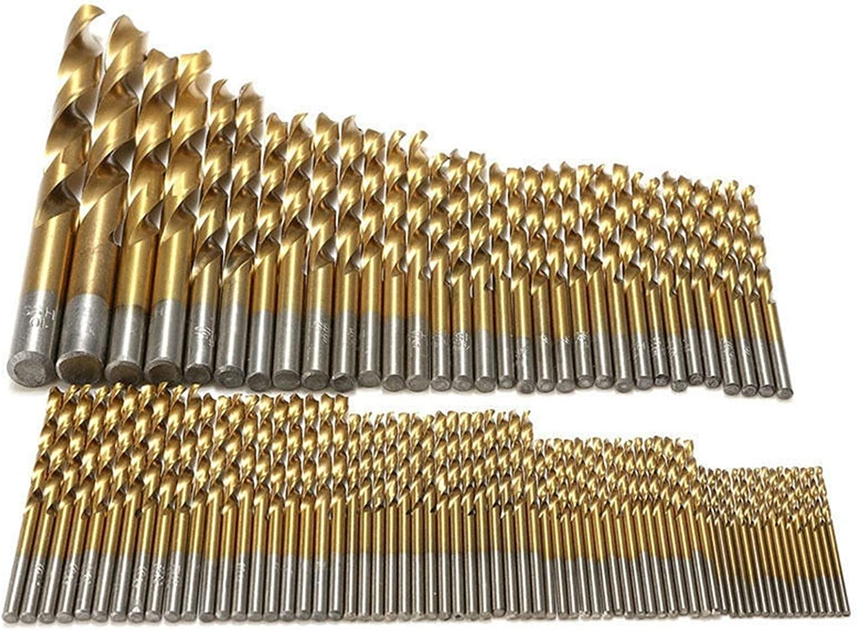 MOUNTAIN MEN 100% quality warranty Durable 99Pcs 1.5-10mm Drill Raleigh Mall Twist Bits St Titanium