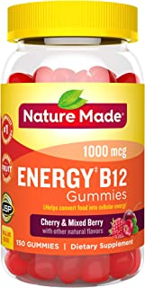 Nature Made Energy‡ B12 1000 mcg Gummies, 150 Count Value Size (Packaging May Vary)