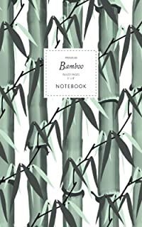 Bamboo Notebook - Ruled Pages - 5x8 - Premium: (White Edition) Notebook 96 ruled/lined pages (5x8 inches / 12.7x20.3cm / J...