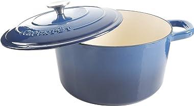 Crock-Pot Artisan Round Enameled Cast Iron Dutch Oven, 7-Quart, Sapphire Blue