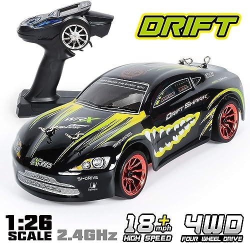 RCZYBZ RC Auto 1 26 Skala 4x4 RTR Fernbedienung Racing Drift Auto 360 ° Drehung Stunt High Speed Drifting Fahrzeug 2.4 GHz,Geschenk