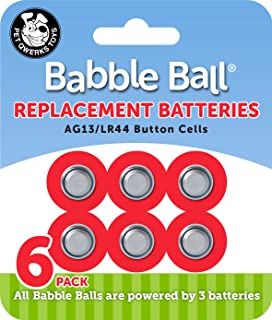 Pet Qwerks B1 Babble Ball Replacement Batteries   AG13 / LR44 Cells  6 per Carded Pack