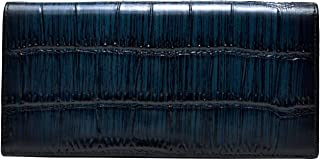 [ INDIEee ] インディ イタリア製 クロコダイルエンボス ファントムレザー 二つ折り長財布 本革 レザー ケース 薄マチ メンズ クロコ型押し 人気 誕生日 プレゼント 魅せる財布