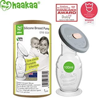 Haakaa Manual Breast Pump with Base 4 Fl Oz/100ml+Lid