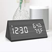 Nicewell Wooden Alarm Clock