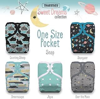 Thirsties Package, One Size Pocket Diaper Snap, Sweet Dreams