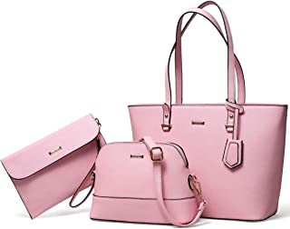 Handbags for Women Tote Bag Shoulder Bag Top Handle Satchel Purse Set 3pcs
