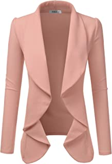 Sponsored Ad - Doublju Classic Draped Open Front Blazer for Women with Plus Size