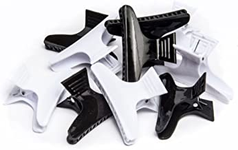 Diane Large butterfly clamps, black and white, 12 pack, D13
