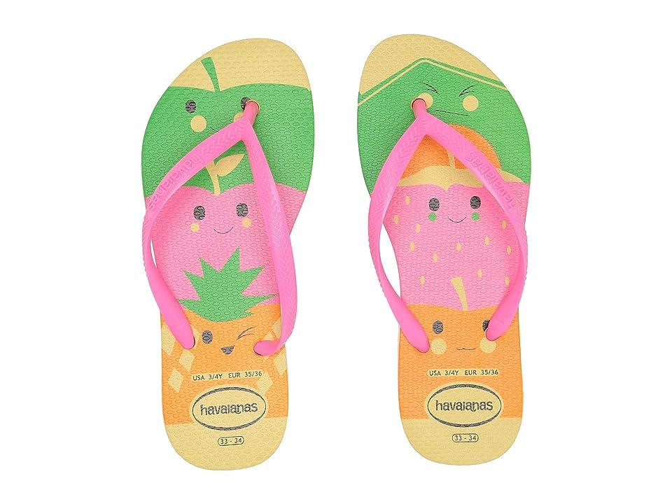Havaianas Kids Slim Fun Flip-Flop (Toddler/Little Kid/Big Kid) (Pollen Yellow) Girls Shoes