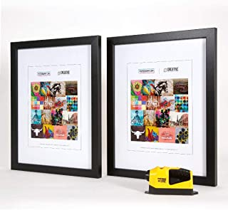 Picture Wall Art - Black 11 x 17 Picture Photo Frame 2-Pack Plus a Free Laser Level! - Made in The USA