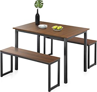 Homury Modern Studio Soho Dining Table with Two Benches 3...